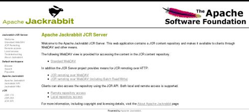 Apache Jackrabbit - Standalone Server